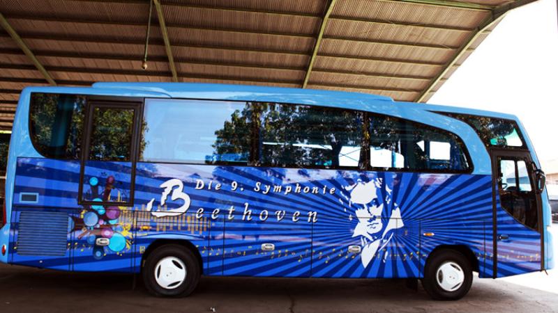 foto bus pariwisata symphonie ia