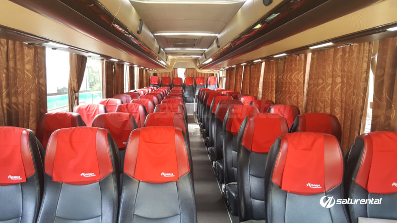 saturental - foto bus pariwisata antavaya big bus 59 seats interior b