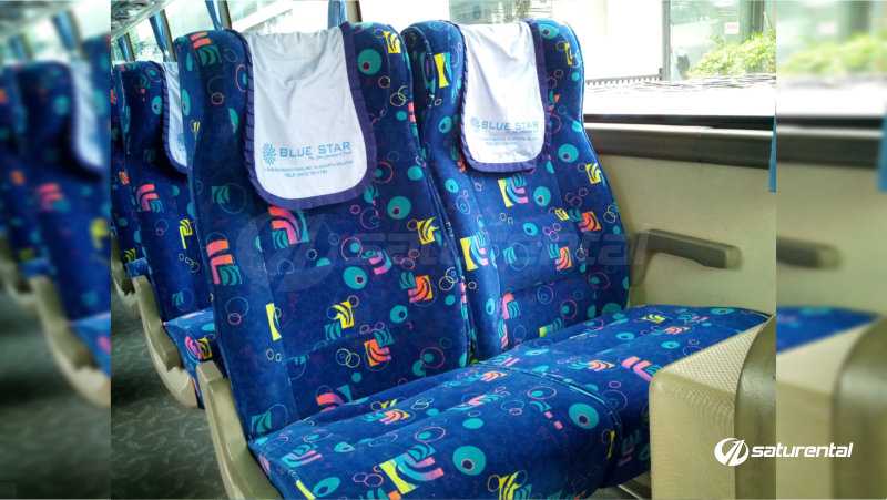 saturental - foto bus pariwisata blue star 47 seats interior b