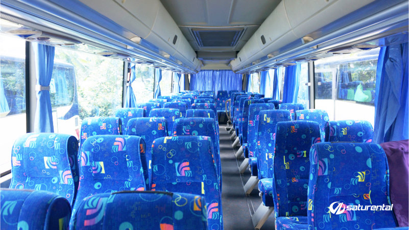 saturental - foto bus pariwisata blue star 59 seats interior b
