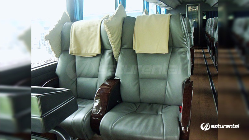 saturental - foto bus pariwisata blue star big bus super executive 2-1 22 seats interior a