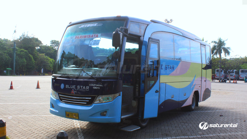 saturental - foto bus pariwisata blue star medium bus 29 31 seats a