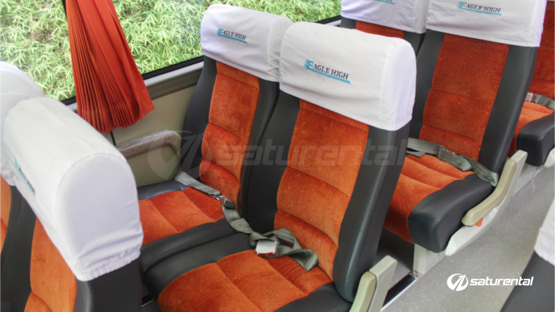 saturental - foto bus pariwisata eagle high big bus interior bangku 47 seats a