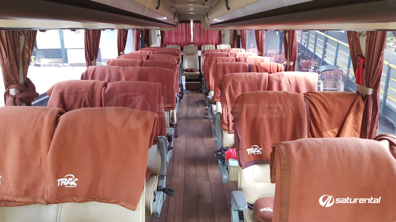 saturental - foto bus pariwisata trac interior medium bus 29 35 seats a
