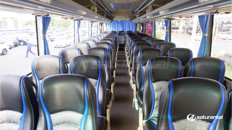 k saturental - foto bus pariwisata panorama interior dalam big 47 seats