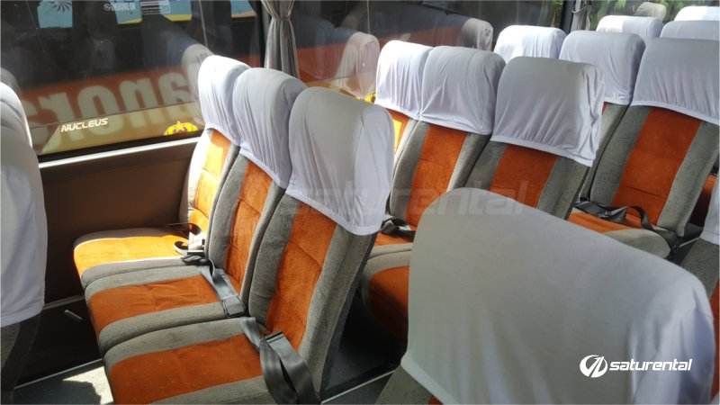 p saturental - foto bus pariwisata panorama interior dalam big 59 seats