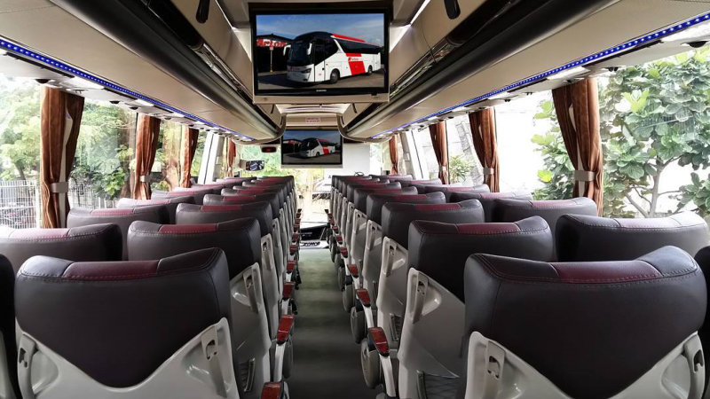saturental - foto bus pariwisata arion interior dalam big 48 seats d