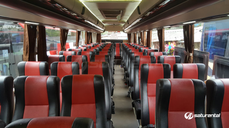 saturental - foto bus pariwisata arion interior dalam big 59 seats g