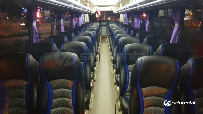 x saturental - foto bus pariwisata panorama interior dalam big 47 seats