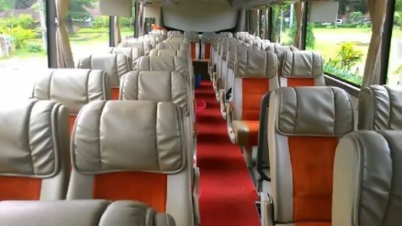 saturental - foto big bus pariwisata semanta transport interior dalam 48s 50s 59 seats a