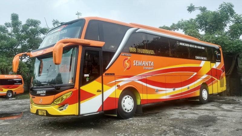 saturental - foto bus pariwisata semanta transport shd hdd terbaru 48 seats a