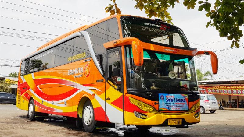 saturental - foto bus pariwisata semanta transport shd hdd terbaru 48 seats b