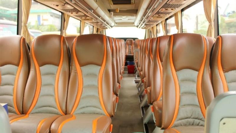 saturental - foto bus pariwisata semanta transport shd hdd terbaru interior dalam 48 seats a
