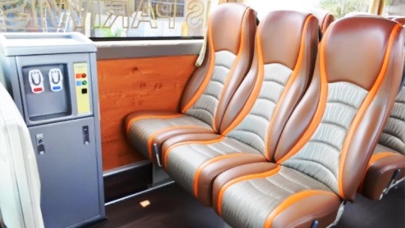 saturental - foto bus pariwisata semanta transport shd hdd terbaru interior dalam 48 seats b