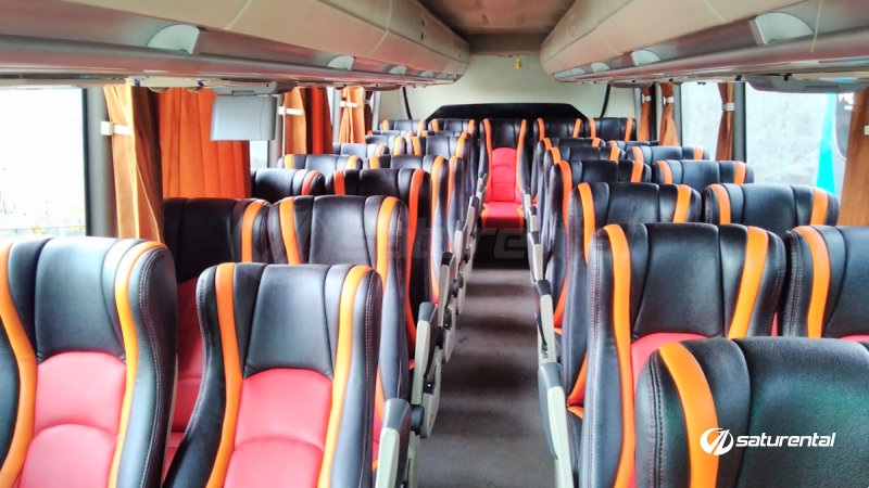 saturental - foto bus pariwisata subur jaya medium bus 31 33 35 seats interior dalam a