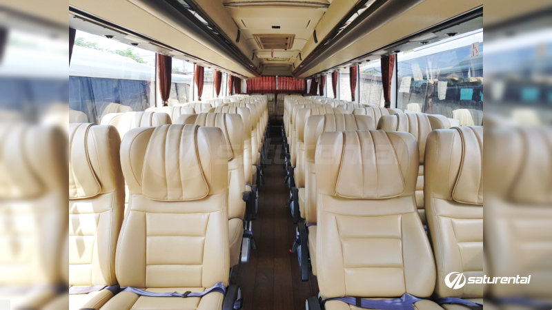 saturental - foto bus pariwisata trac interior dalam big bus 47 seats a