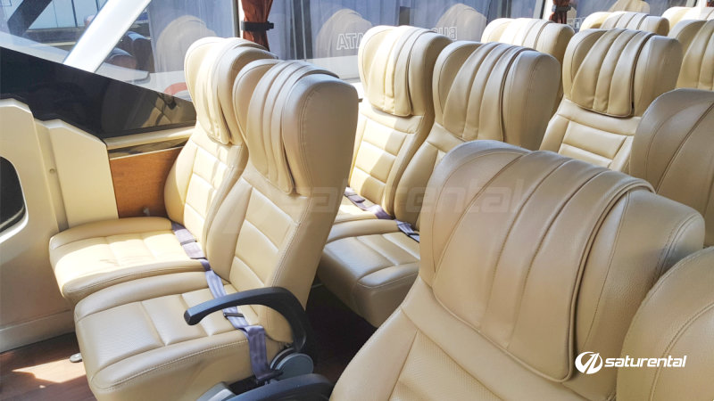 saturental - foto bus pariwisata trac interior dalam big bus 47 seats b