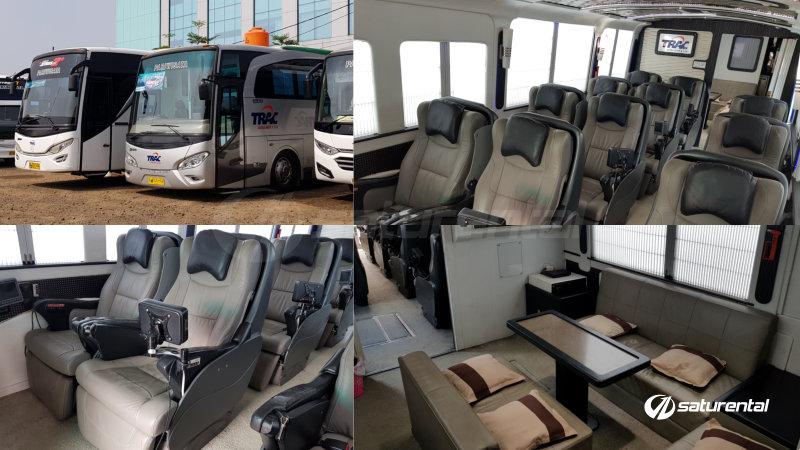 saturental - foto bus pariwisata trac luxury mewah meeting room terbaru 12 6 seats c