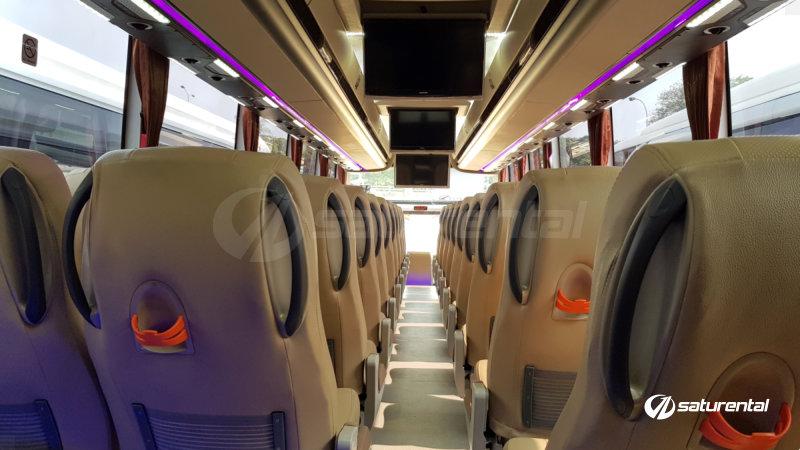 saturental - foto bus pariwisata trac shd hdd terbaru interior dalam 48 59 seats b