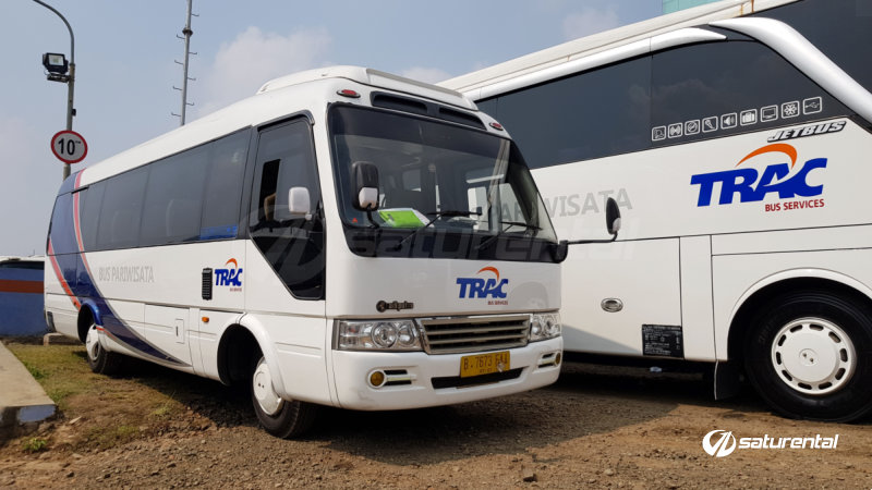 saturental - foto bus pariwisata trac toyota coaster 18 23 seats a