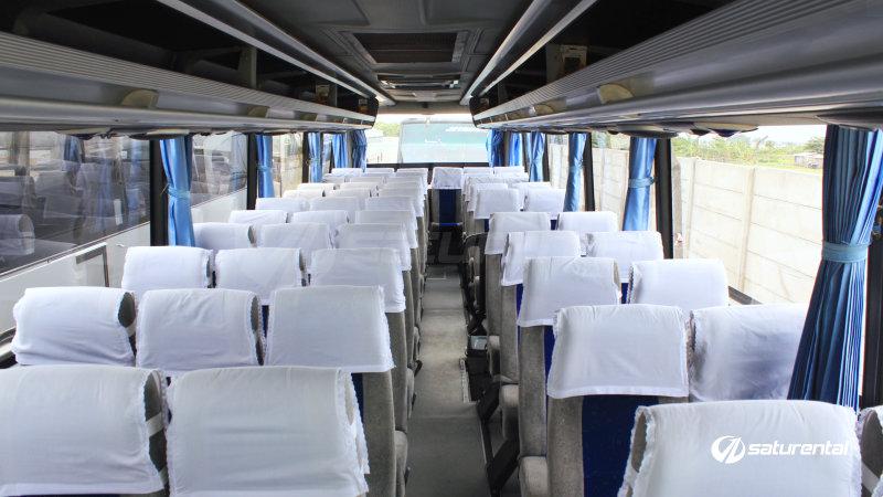 saturental - foto bus pariwisata white horse big bus interior dalam 38 48 59 seats e