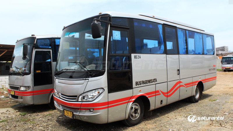 saturental - foto bus pariwisata white horse medium bus 27 31 seats a