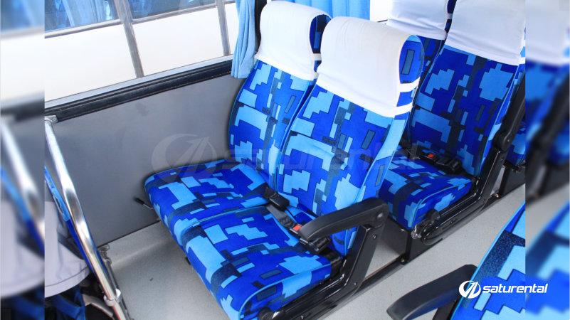 saturental - foto bus pariwisata white horse medium bus interior dalam 27 31 seats b