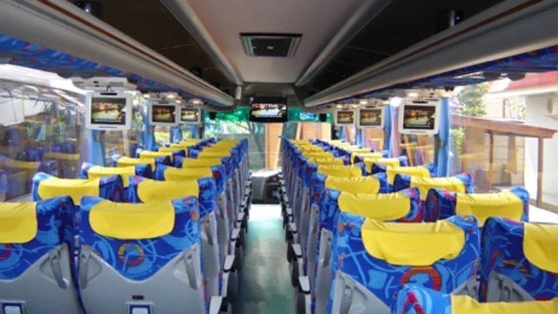 saturental - foto big bus pariwisata kerub shd hdd terbaru interior dalam 43s 54s 56s 59 seats b