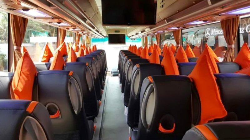 saturental - foto big bus pariwisata mega citra wisata interior dalam 43s 56 seats a