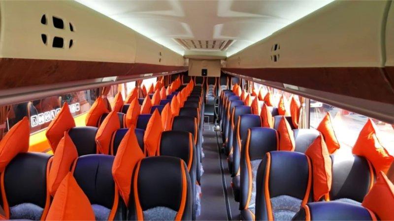 saturental - foto big bus pariwisata mega citra wisata interior dalam 43s 56 seats b