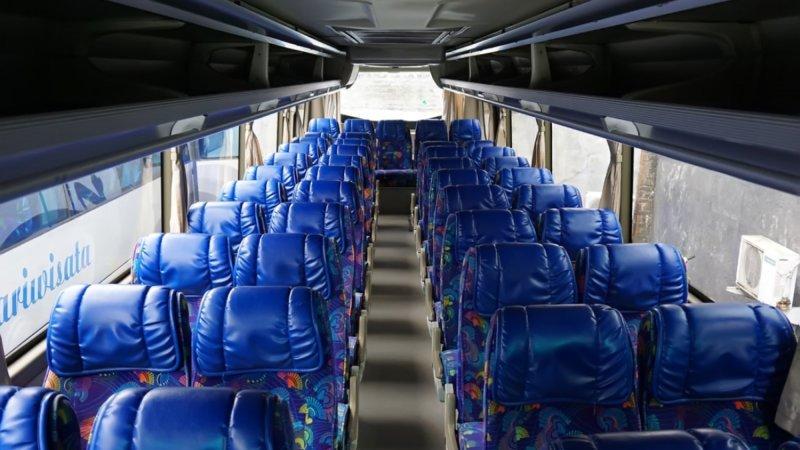 saturental - foto big bus pariwisata ness trans interior dalam 47s 52s 59 seats d