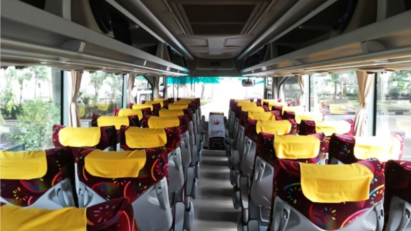 saturental - foto big bus pariwisata ness trans shd hdd terbaru interior dalam 47s 52 seats b