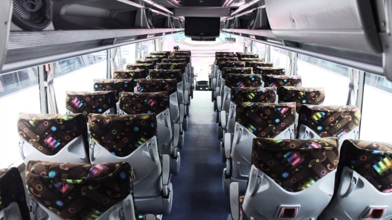 saturental - foto big bus pariwisata patriot interior dalam 48s 52s 59 seat b