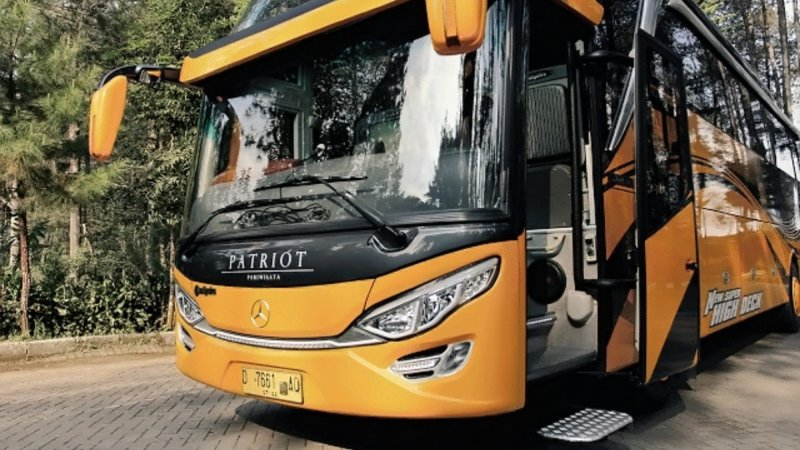 saturental - foto big bus pariwisata patriot shd hdd premium terbaru 52 seat b