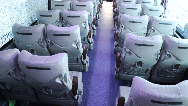 saturental - foto big bus pariwisata patriot shd hdd premium terbaru interior dalam 52 seat b