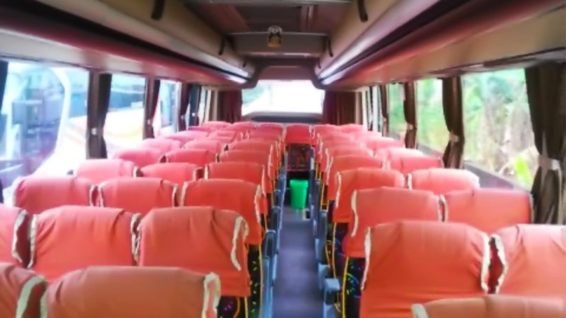 saturental - foto big bus pariwisata real dream interior dalam 59 seats b