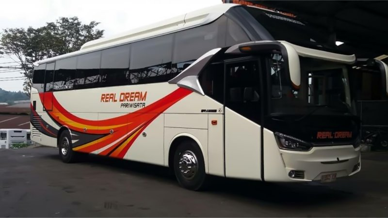 saturental - foto big bus pariwisata real dream shd hdd terbaru 59 seats b