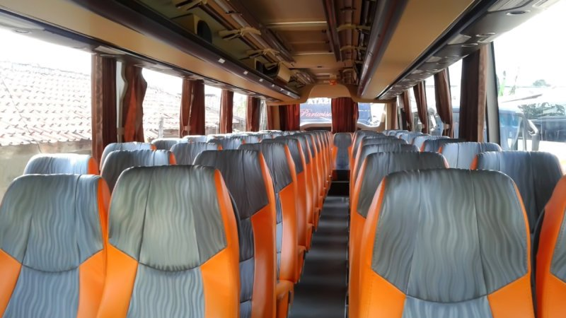 saturental - foto big bus pariwisata real dream shd hdd terbaru interior dalam 59 seats c
