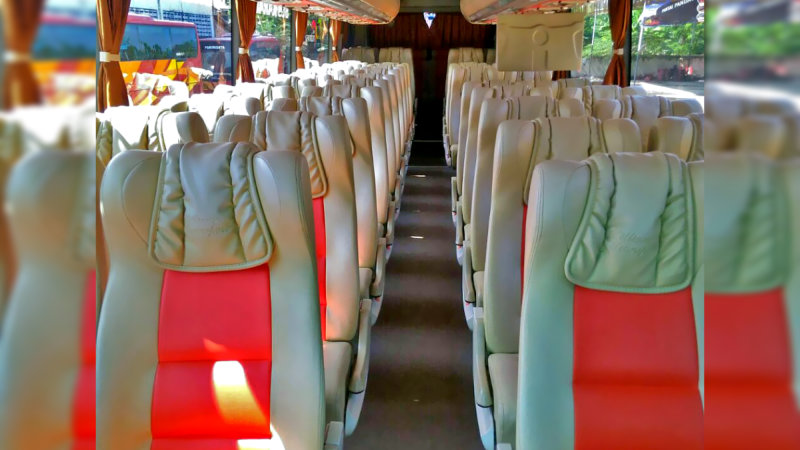 saturental - foto big bus pariwisata william interior dalam 48s 59 seats a