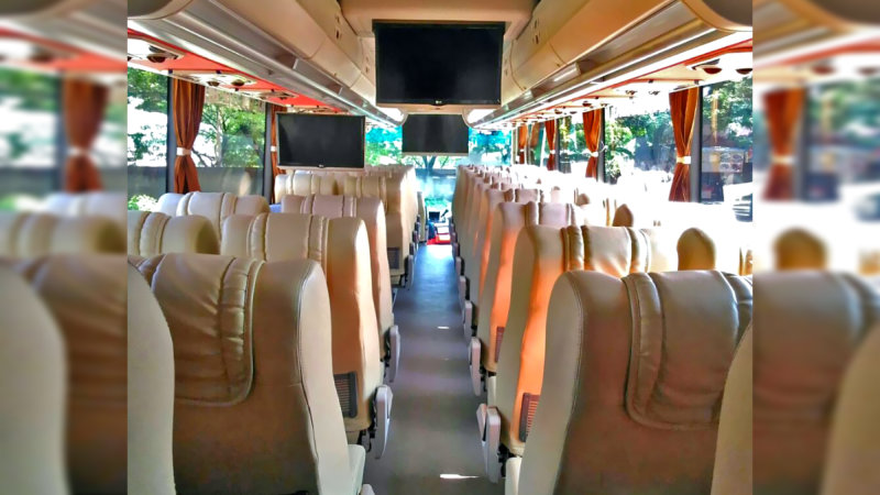 saturental - foto big bus pariwisata william interior dalam 48s 59 seats b