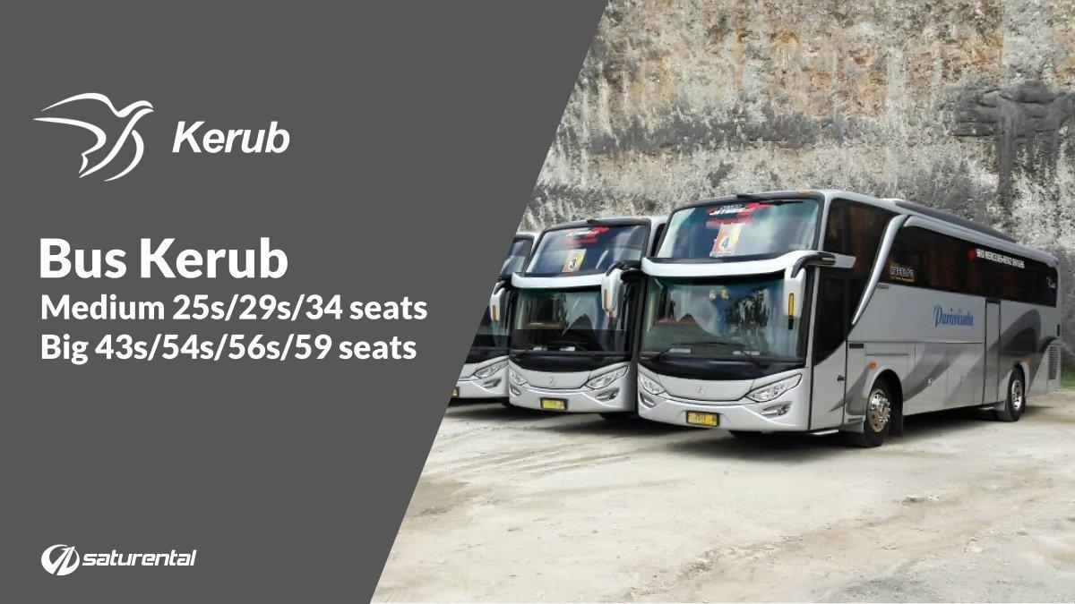 Info Lengkap Foto dan Harga Sewa Bus Pariwisata Kerub - Saturental