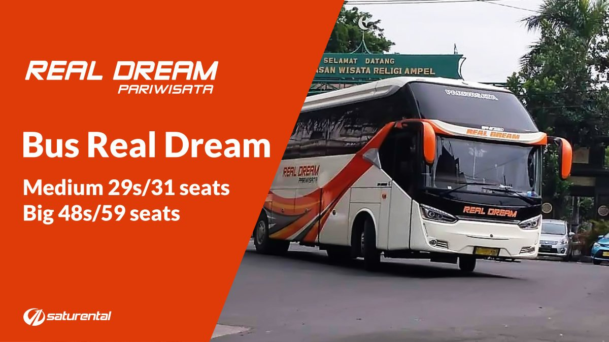 saturental - foto bus pariwisata real dream