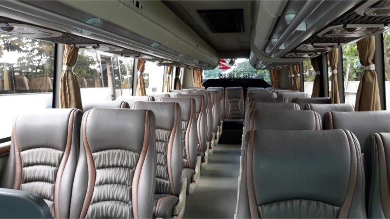 saturental - foto medium bus pariwisata kerub interior dalam 25s 29s 34 seats a