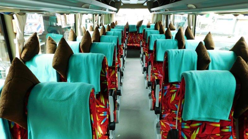 saturental - foto medium bus pariwisata ness trans interior dalam 31s 35 seats b