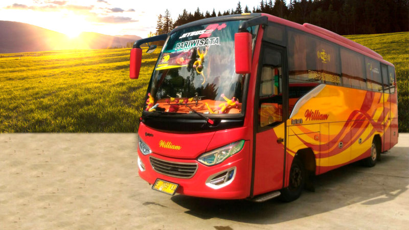 saturental - foto medium bus pariwisata william 31 seats a