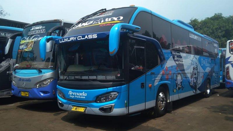 saturental - foto big bus pariwisata armada jaya perkasa shd hdd terbaru 48s 59 seats a