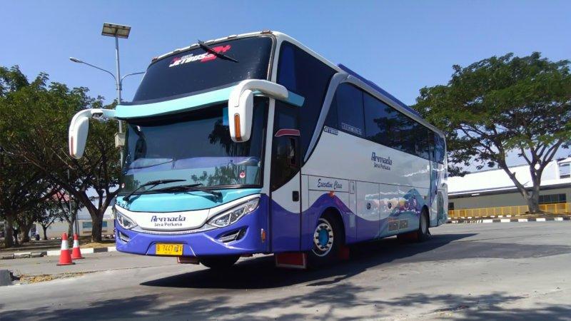 saturental - foto big bus pariwisata armada jaya perkasa shd hdd terbaru 48s 59 seats c