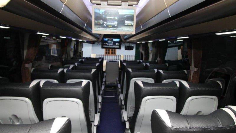 saturental - foto big bus pariwisata bin ilyas interior dalam 59 seats b