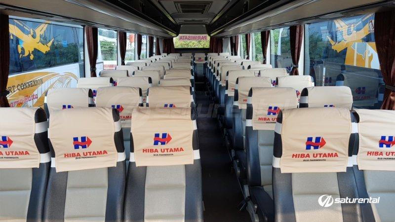 saturental - foto big bus pariwisata hiba utama shd hdd terbaru interior dalam 59 seats a
