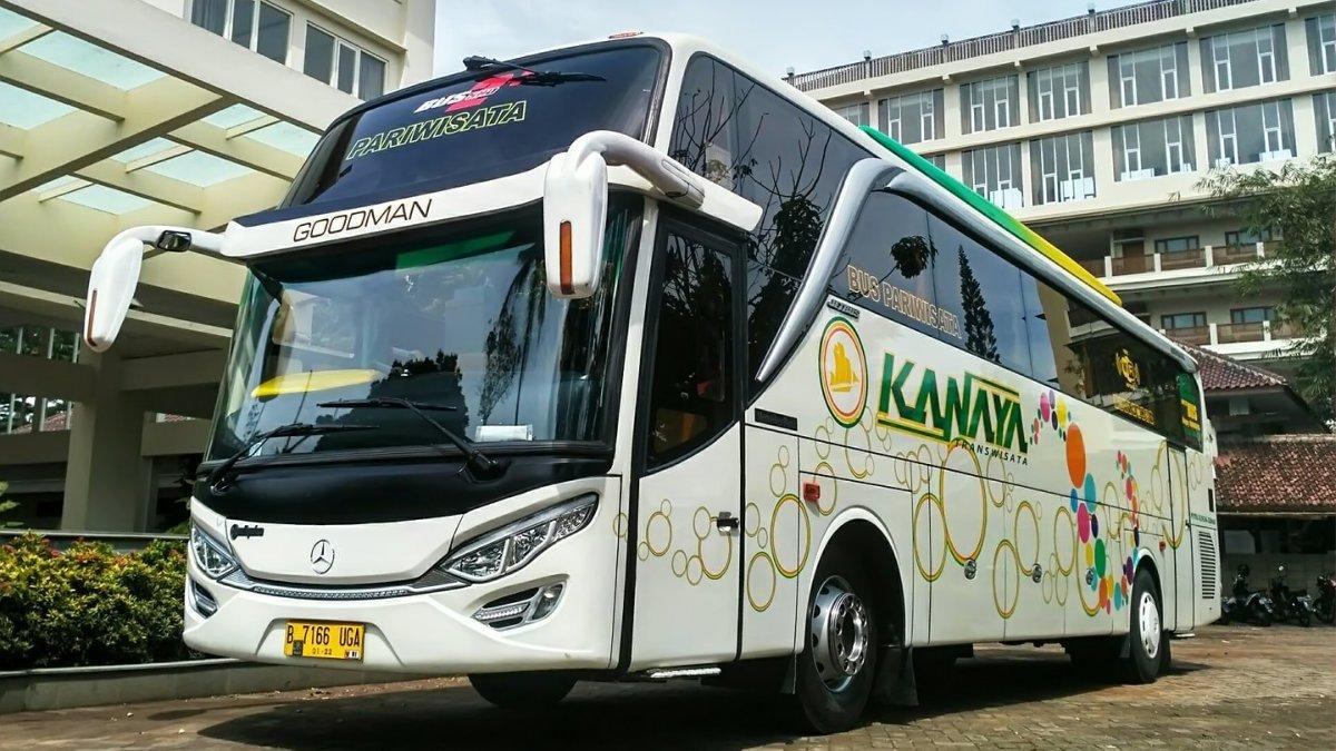 Info Lengkap Foto dan Harga Sewa Bus Pariwisata Kanaya - Saturental